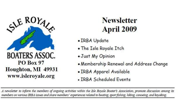April-2009 Newslwtter